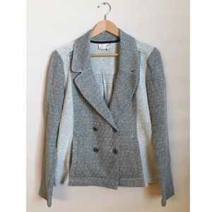 Anthro Saturday Sunday Grey Knit Blazer Jacket
